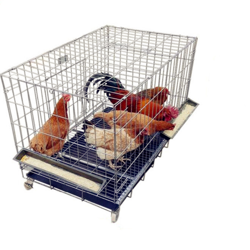 Poultry Pet Chicken Cage Chicken Cage Chicken Iron Cage Small Household Transport Cage Farm White Pigeon Folding Cage