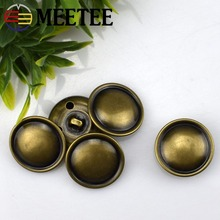 Button high-grade copper monopoly leather buckle edge arc half mushroom coat sweater button