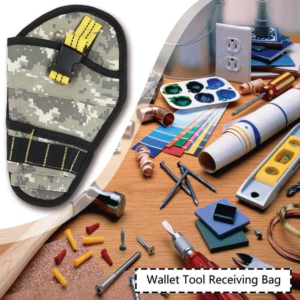 600D Polyester Toolkit Drill Hardware Storage Tool Bag Camouflage Waist Pack Suitable For Technicians Etc Durable