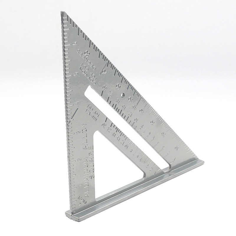 7 بوصة الألومنيوم سبائك الحق زاوية حاكم الثلاثي قياس أداة نجارة L9