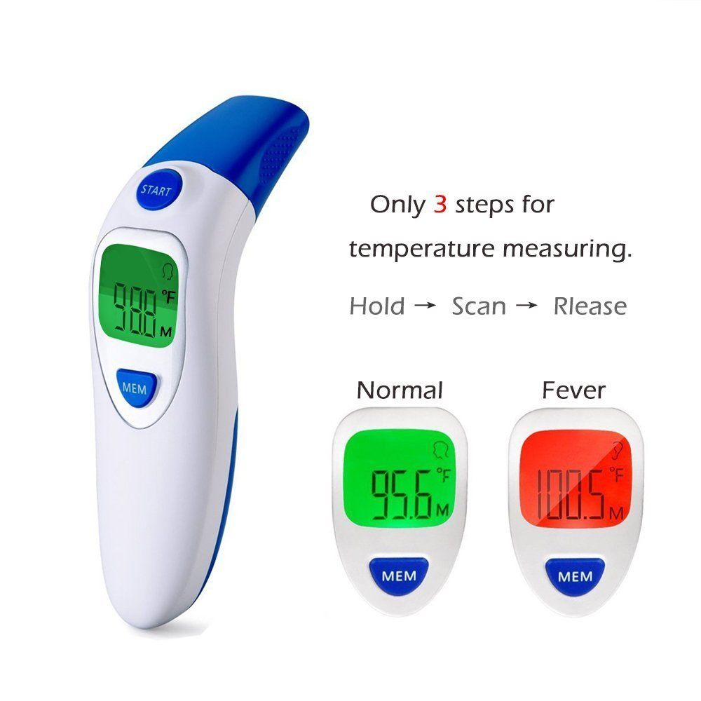 Infrared Ear Forehead Handheld Electronic Digital Thermometerfor Adults Baby