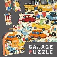 100pcs Kid's Cartoon Animals Puzzles Montessori Materials Educational Toys For Children Garage Puzzles Games Sensory Toy yuncak