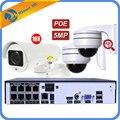 8CH POE 48V NVR система 10X Zoom PTZ IP камера 5MP наружная сеть безопасности с 2 куполом 5mp 4xzoom PTZ POE камера