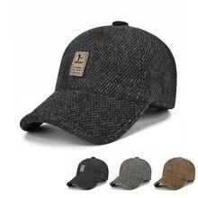 Winter men's cotton hat fashion outdoor baseball cap, leisure warm ear hair, duck tongue cap, autumn and winter, adjustable цены