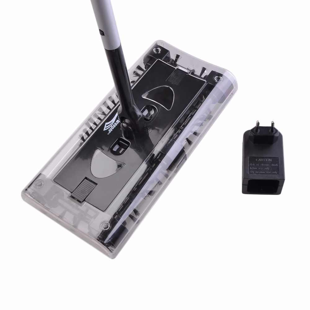 自動モップスイベルスイーパー電子スピンハンドプッシュ掃除クリーナー自動家庭用掃除機電気ほうき