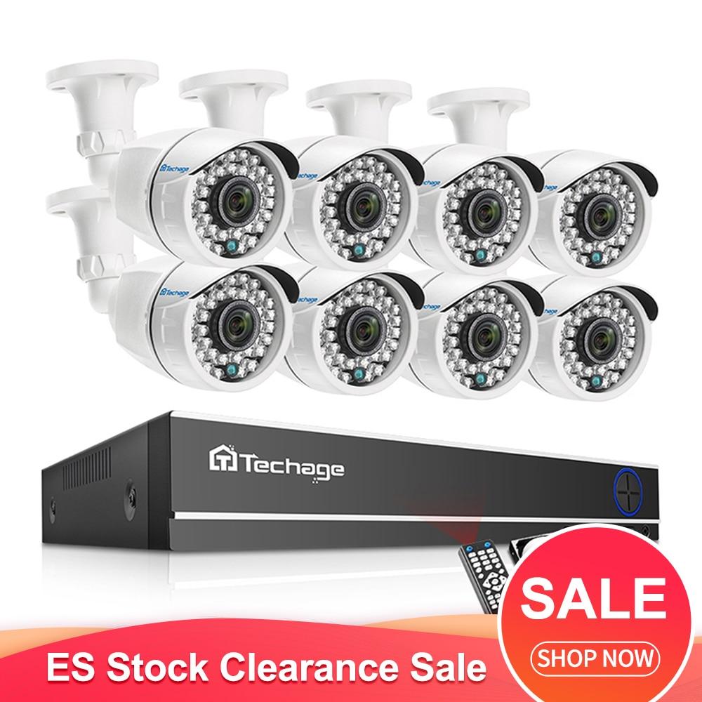 Techage 8CH 1080P ahd dvr zestaw do nagrywania wideo IR Night Vision zewnętrzna kamera monitorująca wideo 2.0MP HD system bezpieczeństwa cctv