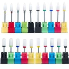 2pcs Ceramic Nail Drill Bit Milling Cutter for Manicure Apparatus for Metal Electric Nail Buffer Manicure Machine Accessories