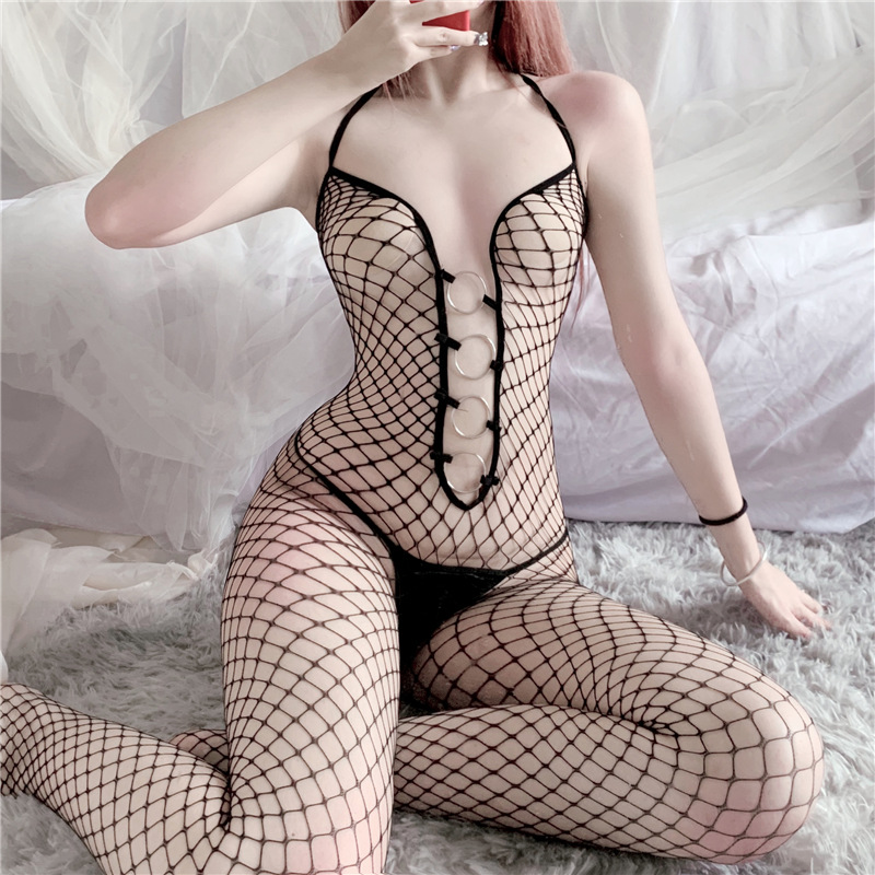 Black <font><b>Sexy</b></font> <font><b>Tights</b></font> Women Fishnet <font><b>Bodystockings</b></font> Female Erotic <font><b>Lingerie</b></font> Open Crotch Bodysuit Porn Sex Underwear Sleepwear image