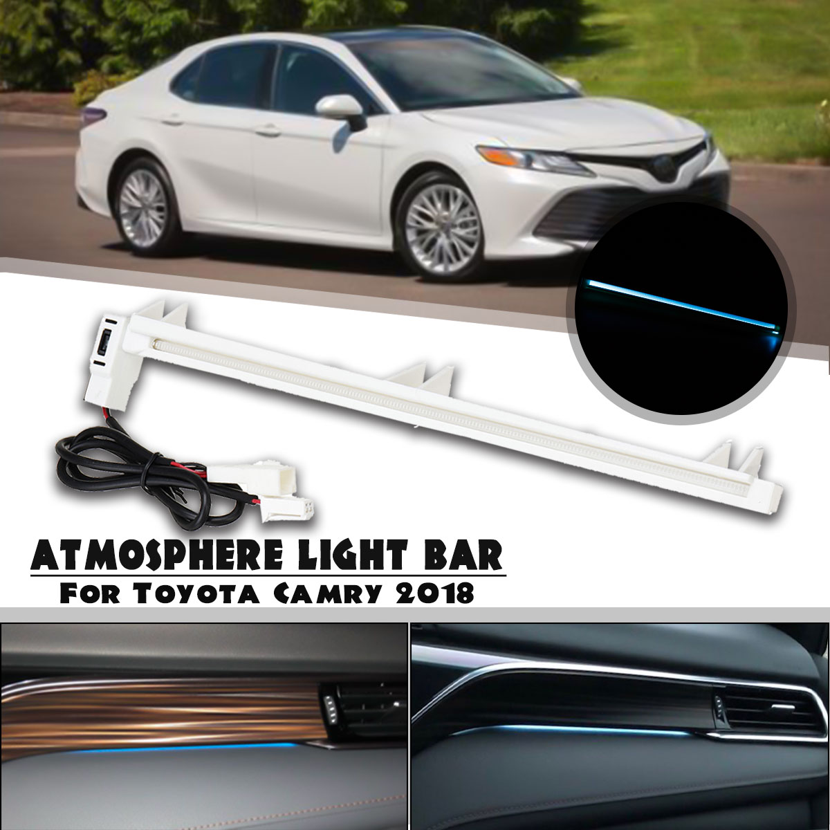 LED Car Interior Inside Atmosphere Decorative Lamp Light Ambient Door Light For Toyota Camry Altis XV70 2018 2019