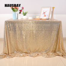 Rose Gold Sequin Tablecloth Glitter Round Rectangular Embroidered Rectangle Table Cloth For Wedding Party Christmas Decoration 10 Colors Size can be Customized TC009