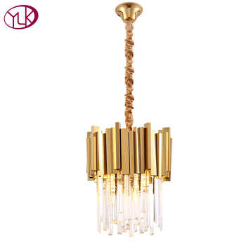 Modern Crystal Chandelier Lighting Dining Room Kitchen Island Bedroom Chain Loft Chandeliers Ceiling Gold/Chrome Light Fixtures - DISCOUNT ITEM  20% OFF All Category