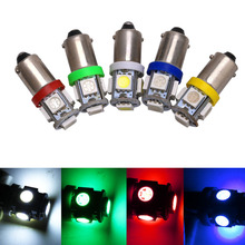 10PCS BA9S LED Light 5050 5SMD T4W H6W 363 Doom Reading Width Instrument Clearance License Plate Interior Bulb Lights Lighting new arrival 10pcs 12v t11 ba9s white bulb t4w 3886x h6w 363 5050 5led car interior dome map light lamp