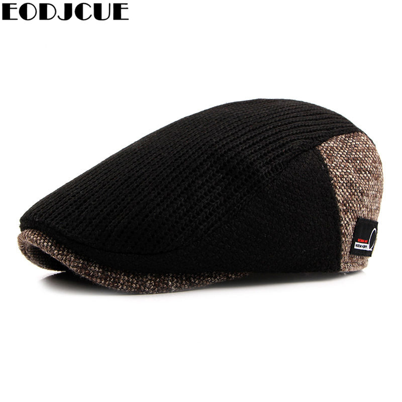 Мужской твидовый берет с ушками, винтажная теплая шапка газетчика в клетку, для русской зимы|Мужские кепки-восьмиклинки|   | АлиЭкспресс