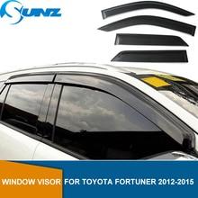 цена на Side window deflector For TOYOTA Fortuner 2012 2013 2014 2015 Window Visor Vent Shade Sun Rain Deflector Guard SUNZ