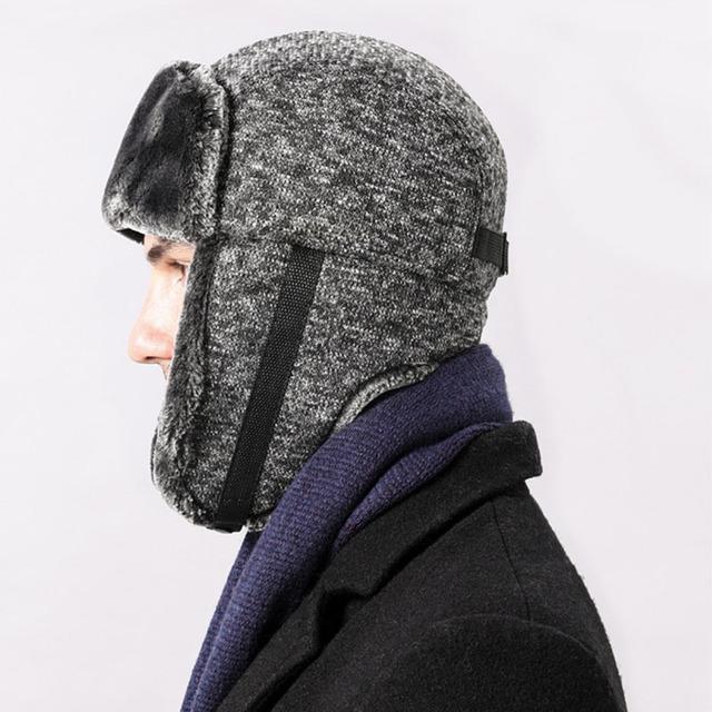 Nuevo gorro tejido de felpa de invierno