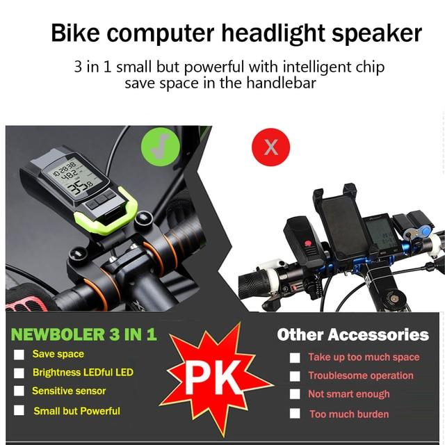 4 modo usb bicicleta luz da lâmpada do computador 3 modo chifre lanterna ciclo velocímetro led luzes dianteiras ciclismo farol 2