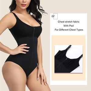 Image 4 - HEXIN Womens Slimming ชุดชั้นใน Body Shaper เอว Shaper Shapewear หลังคลอด Recovery Slimming ซิปและตะขอ Corset