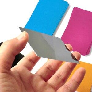 Image 5 - 卸売 100 個名プレート Alumium カード犬 ID タグレーザー刻まメタルビジネス訪問名カードブランクタグ黒シルバー
