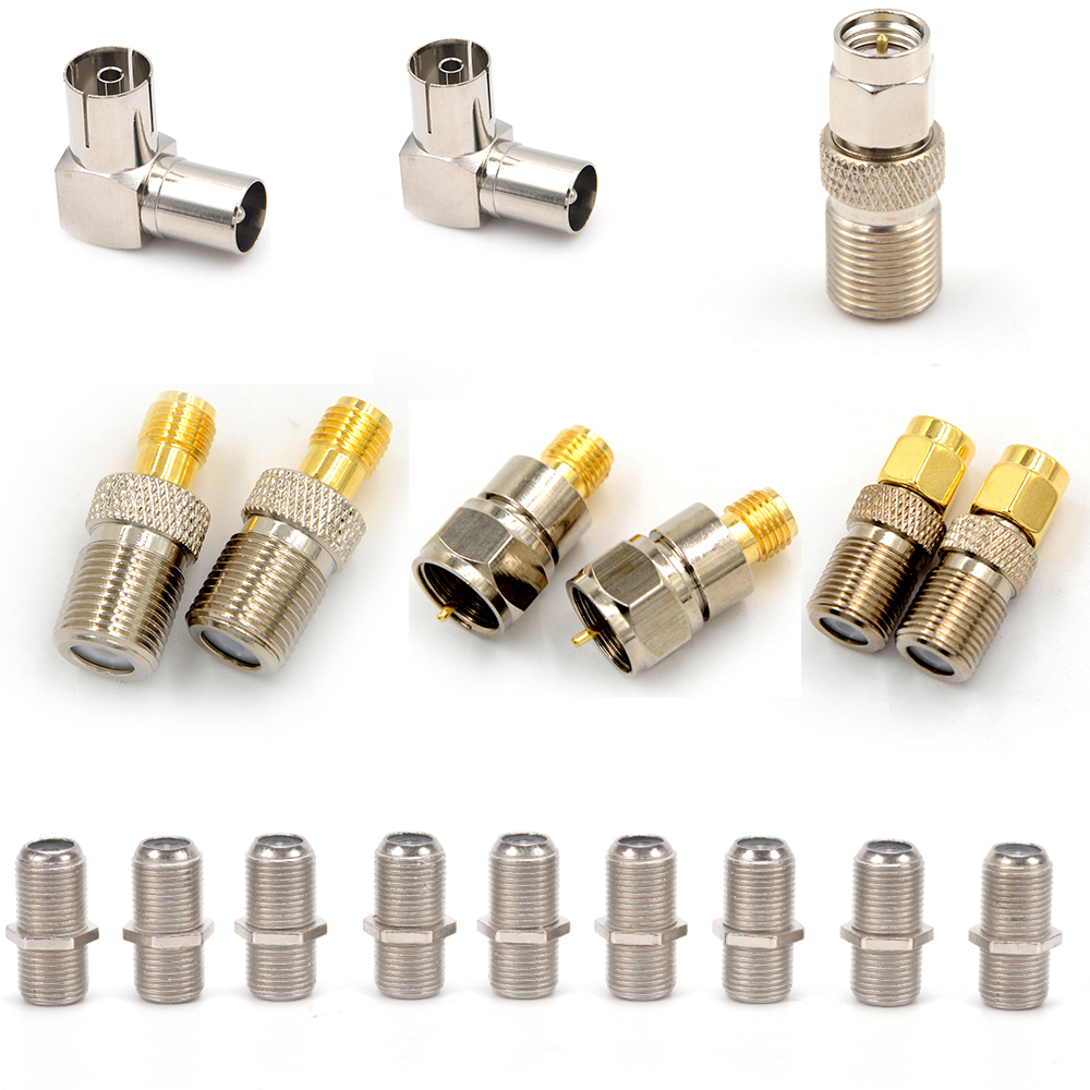 One Or 10 Pcs F Type Female Jack To SMA Male Plug Straight RF Coaxial Adapter F Connector To SMA Convertor