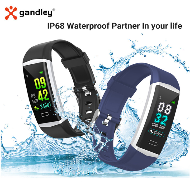 Gandley B5 GPS Smart Bracelet Watch Health Men's Women's Wristbands Sports Bluetooth 5.0 Fitness Bracelet IP68 Smart Band