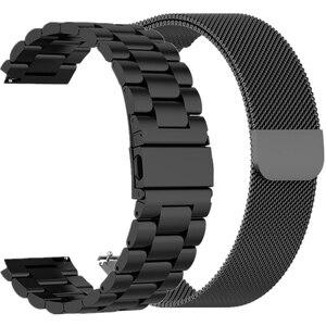 Металлический ремешок для часов Huawei GT/GT2 Honor Magic, 22 мм, 46 мм, ремешок из нержавеющей стали для часов TicWatch Pro