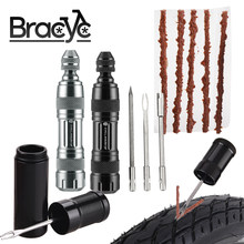 Bicycle Tubeless Tire Repair Kit Tire Drill Rubber Strips Tyre Puncture Sealant Bicycle Repair Tools