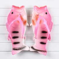 Flip flops women summer beach slippers plus size 3-12.5 fashion cartoon fish slippers women shoes unisex slides 2020