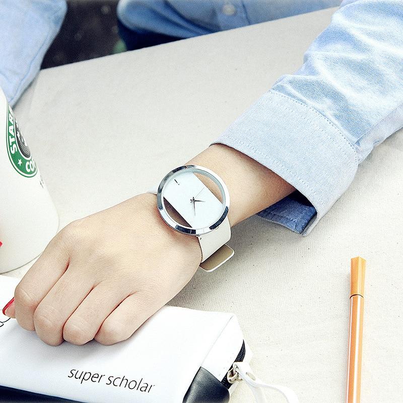Watch Women Luxury Fashion Casual Without Second Hand Quartz Watches Genuine Leather Strap Sport Ladies Elegant Wrist Watch Girl