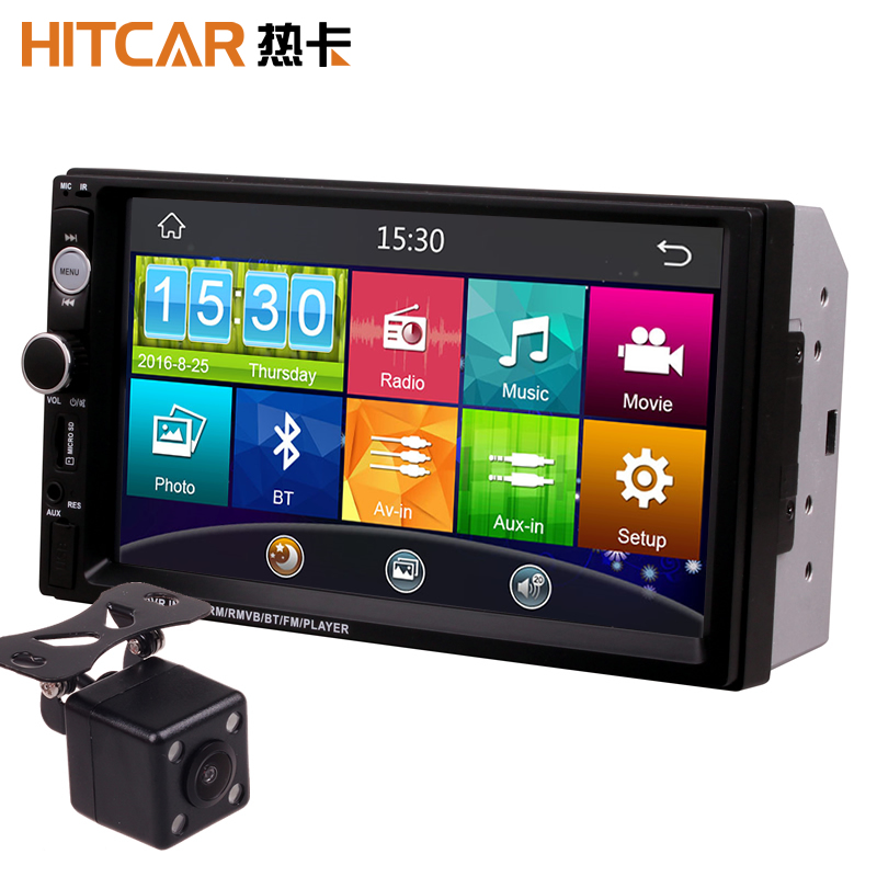 7 Inch Touch Screen <font><b>2Din</b></font> Universal 12V 24V Car Truck Bus Van In Dash Bluetooth Radio MP3 MP4 MP5 Media Player Head Unit Stereos image