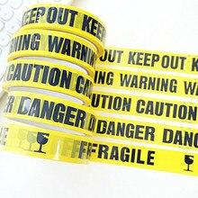 1 rolo 25m fita de advertência perigo cuidado barreira lembrar trabalho fitas adesivas segurança diy adesivo para shopping loja escola