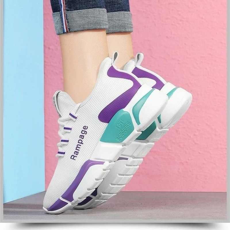 Tenis נעלי אישה 2020 חדש אביב אופנה נשים נעליים יומיומיות שחור לנשימה רשת פלטפורמת סניקרס Feminino zapatos de mujer