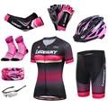 Женское Велосипедное платье, одежда для велоспорта, одежда для Mtb, светоотражающая Женская одежда для велоспорта, комплект из джерси и шорт, ...