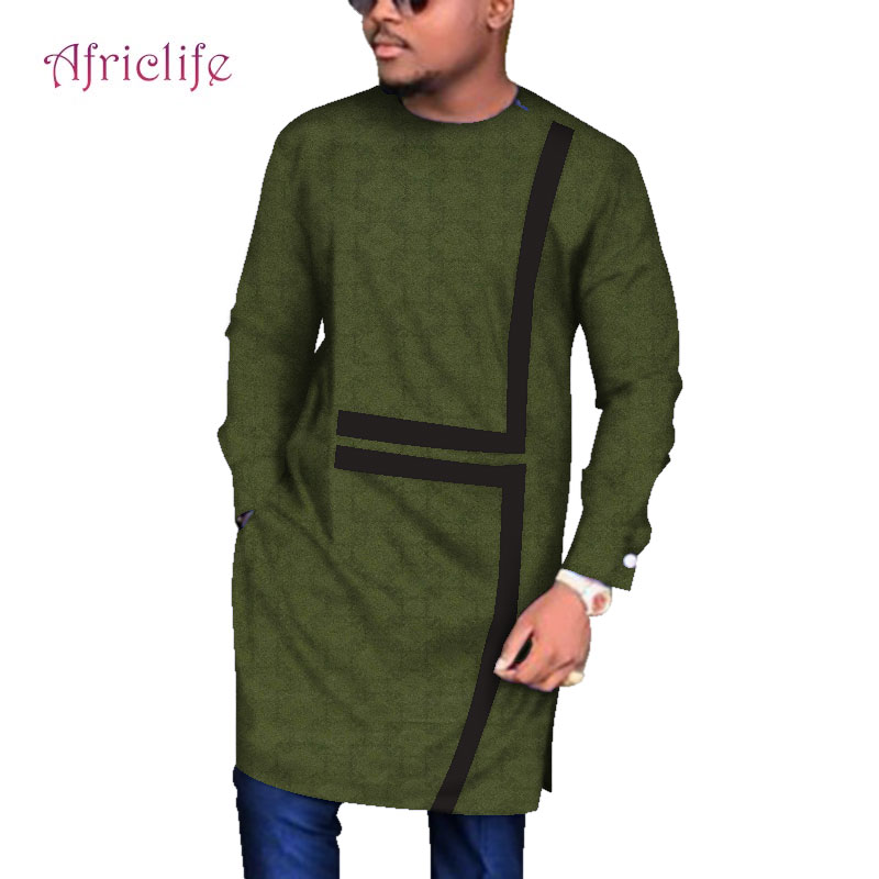 African Men's Long Sleeve Robes Traditional African Clothing Dashiki Men Clothes Plus Size Africa Men's Clothing 6XL WYN683