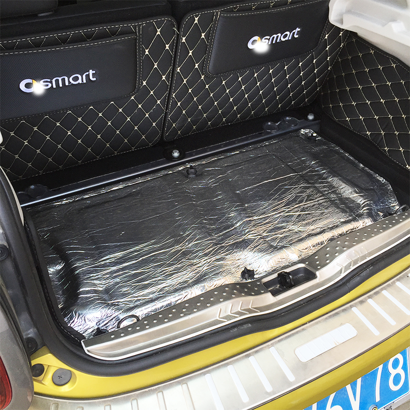 Para smart 451 smart 453 fortwo frorfour fibra de vidro do carro isolamento acústico prova de espuma celular capô do carro motor firewall calor esteira
