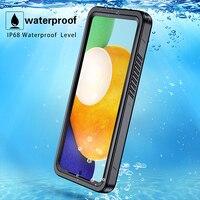 Funda de teléfono impermeable A72 A52 5G IP68 para Samsung Galaxy S20 FE A72 A52 5G, a prueba de golpes, funda de protección completa