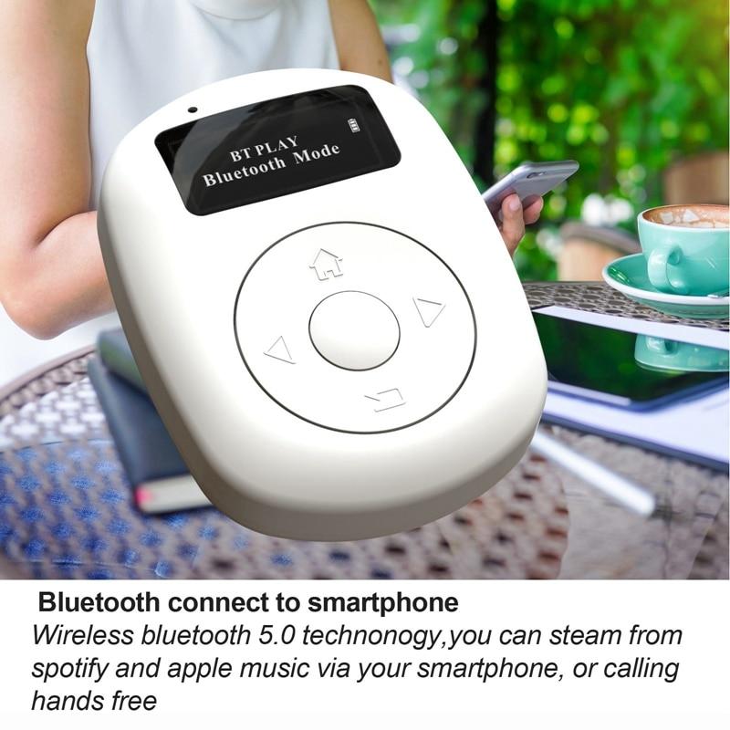 Mini Pocket DAB/DAB+/FM Radio with Bluetooth and White Noise Background Music Mode