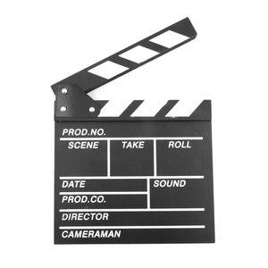 Wood Director Video Scene Clapperboard TV Movie Clapper Board 20x20x1.5cm Film Slate Cut Prop high performance