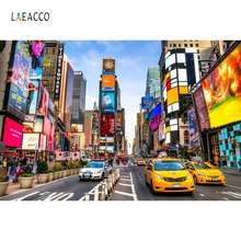 Laeacco New York City Buildings Street Scenery Portrait Photography Backgrounds Custom Photographic Backdrops For Photo Studio