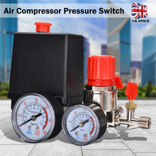 цена на New Arrival 1pc Air Compressor Pressure Switch Valve Manifold Control Regulator Gauges 90-120PSI Pressure 15A 240V AC
