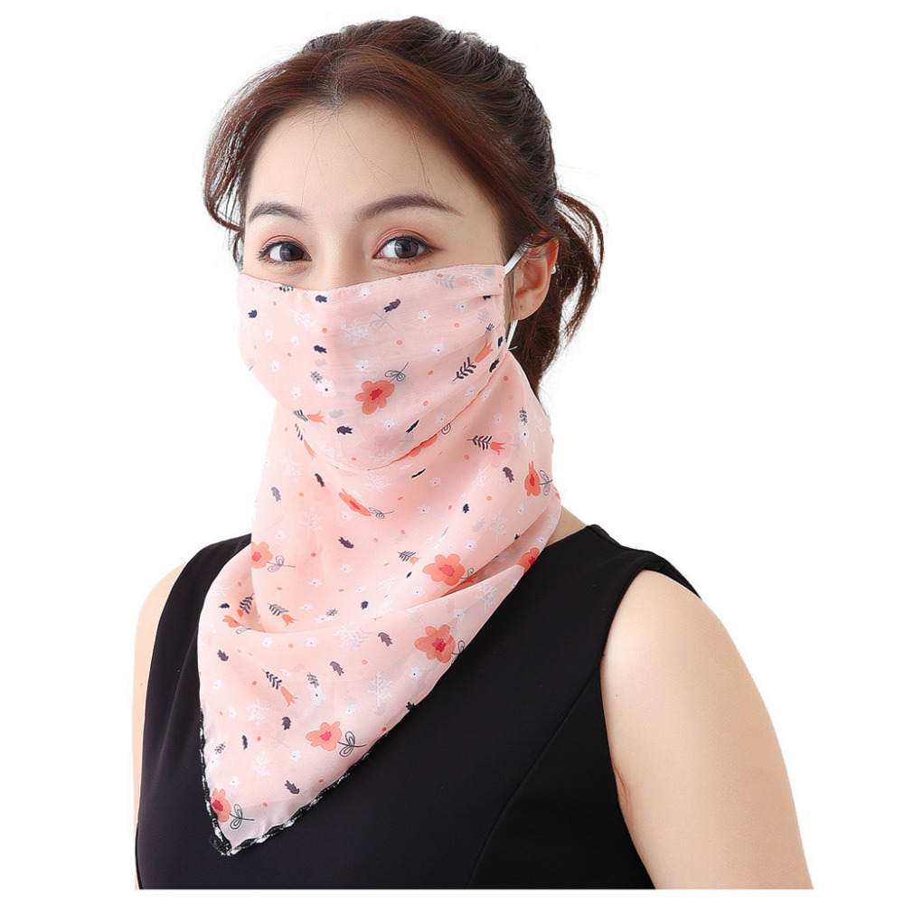 Women's Protective Washable Cotton Scarf Mask 8