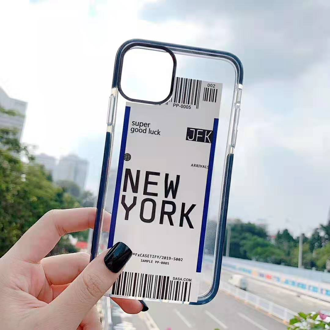 Hfacfa93c572b49f4b3988329badc6aa6B - Toronto New York Luxury Air Tickets Bar code Label case for iPhone 11 Pro XS Max XR 6s 7 8 Plus Los Angeles 3D Color Clear cover
