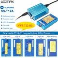 T12A-X3 паяльная станция комплект инструмент для ремонта материнской платы для iPhone11 pro X XS MAX мобильный телефон процессор NAND Отопление разборка ...