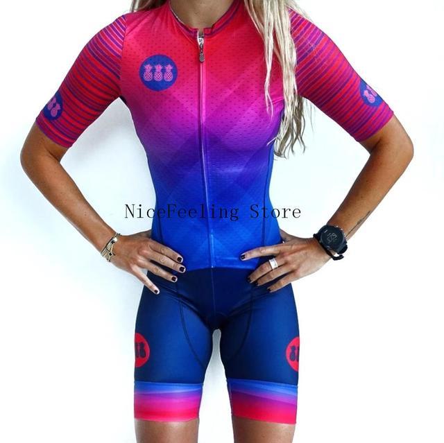 2020 mulher triathlon ciclismo skinsuit verão manga curta roupa de banho personalizado bicicleta onesies triathlon terno cor brilhante macacão 3