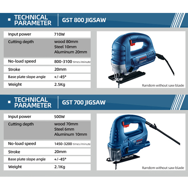 Bosch Jig Saw Electric Saw Blade Multifunctional Jigsaw Electric Saws for Woodworking Power Tool Cutting Metal Aluminum Work Jig 3