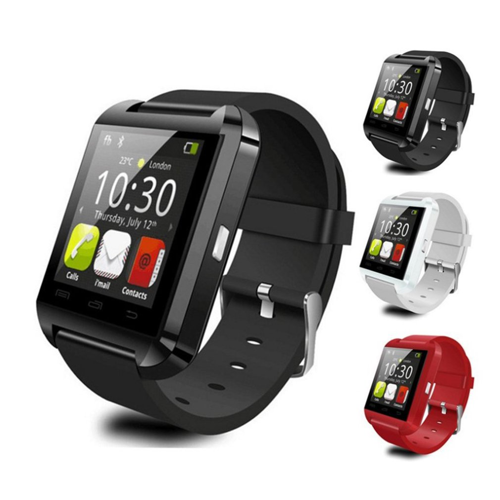 U8 Bluetooth Smart Watches For Android IOS Touch Screen Clock Wrist Watches Men Women Electronics Sport Smart Bracelet Dropship