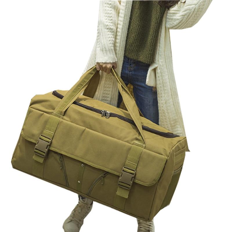 Waterproof Hand Luggage Bag Men Women Large Capacity Portable Military Outdoor  Weekend Duffle Canvas Travel Bag