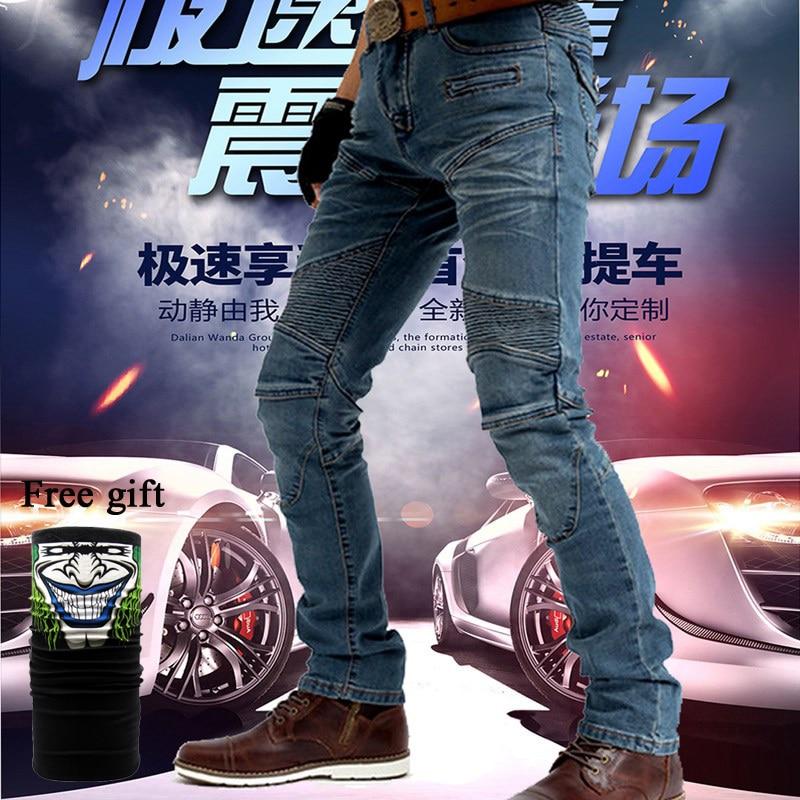 Motorcycle Jeans Motorcycle Men's Biker Jeans Protective Gear Motocross Motorbike Racing Breathable Pants 718 Blue acing jeans