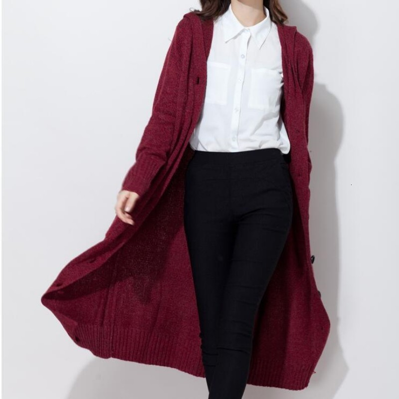 2020 Spring New Arrival Fashion Womens Casual Cardigan Knitting Coat Long Sweater Single Button Woolen Overcoat Plus Size