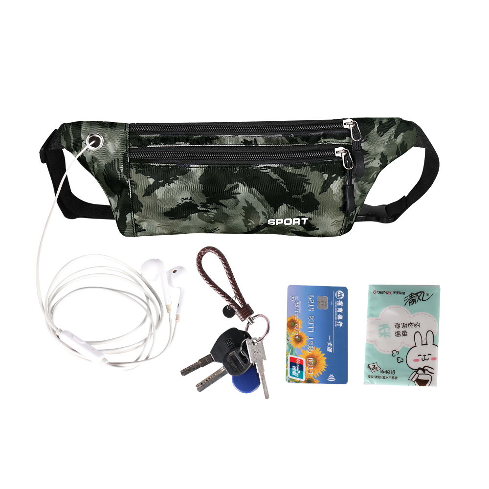 Buylor Fanny Pack Women Running Belt Bag Men Waterproof Waist Bag Sports Hip Bum Bag Hot Zipper Pocket Fitness Phone Holder