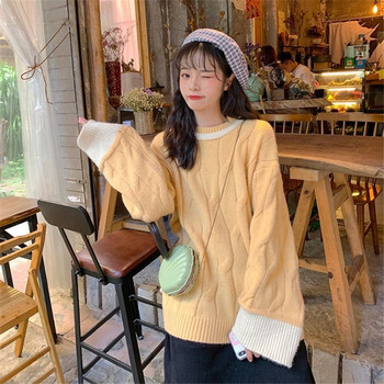 Women Sweater Spring Lady Beauty Oversized Autumn Loose Fashion Spring Fashion Sleeves Sweater Sweety Soft Loose Femme Sweater 1